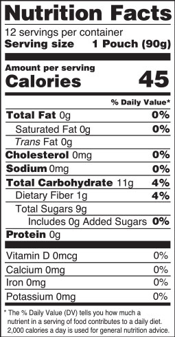 nutrition facts - apple