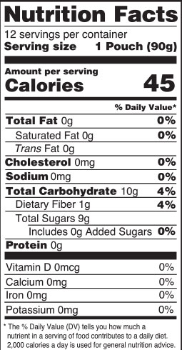 nutrition facts - strawberry